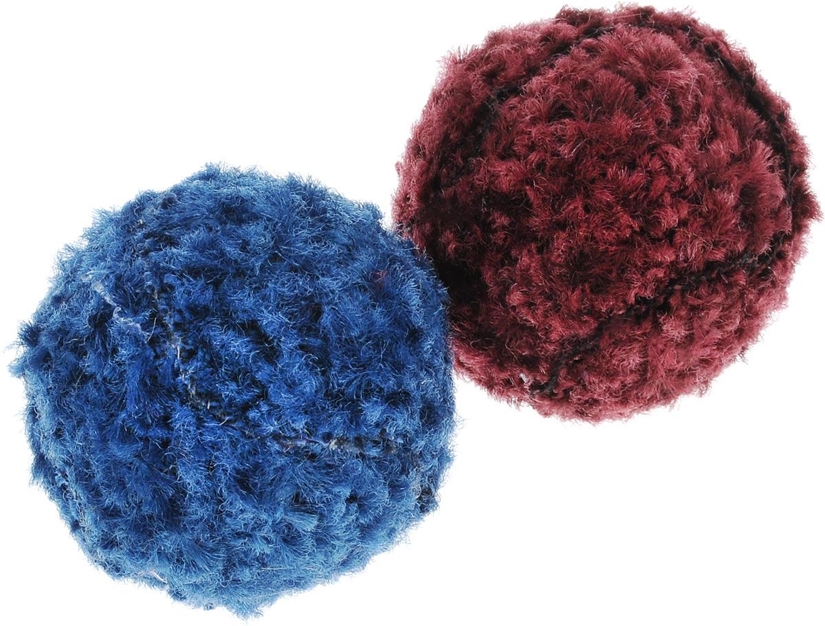 Игрушка для кошек GLG Мяч-погремушка, цвет: синий, бордовый, 2 штGLG030/BmИгрушка для кошек GLG Мяч-погремушка, выполненная из пластика и текстиля, не позволит скучать вашему любимцу. Играя с этой забавной игрушкой, маленькие котята развиваются физически, а взрослые кошки и коты поддерживают свой мышечный тонус. Гремящий мячик привлечет внимание вашего любимца, не навредит здоровью и займет его на долгое время.Диаметр шара: 4 см. Комплектация: 2 шт.