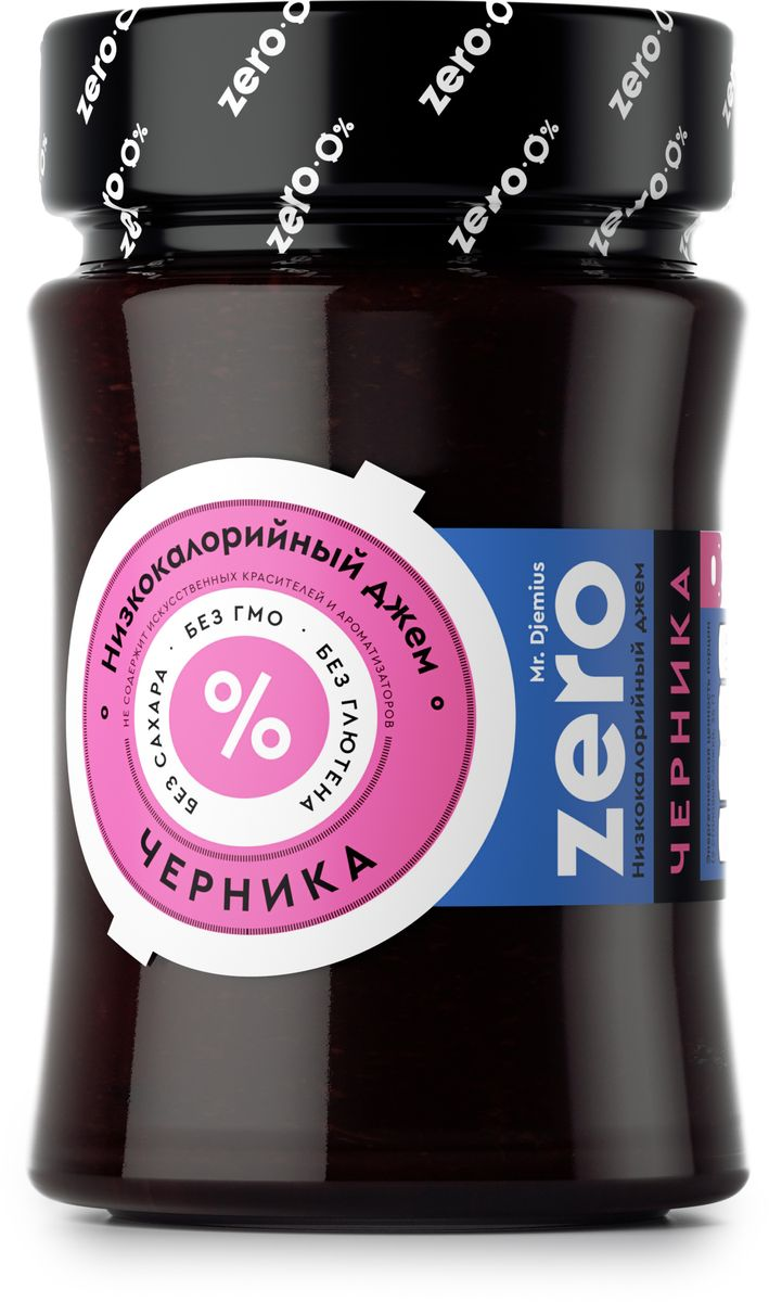 Mr. Djemius zero низкокалорийный джем черника, 270 г0120710Черника - вкусная и очень полезная лесная ягода, известная своими целебными свойствами. Все ее лучшие качества мы сохранили в этом джеме, при этом он содержит минимум калорий и прекрасно подойдет к вашей диете.Как и любой другой ягодный джем, Mr. Djemius Zero Черника хорошо сочетается с молочными продуктами, кашами, выпечкой, а также со многими напитками.