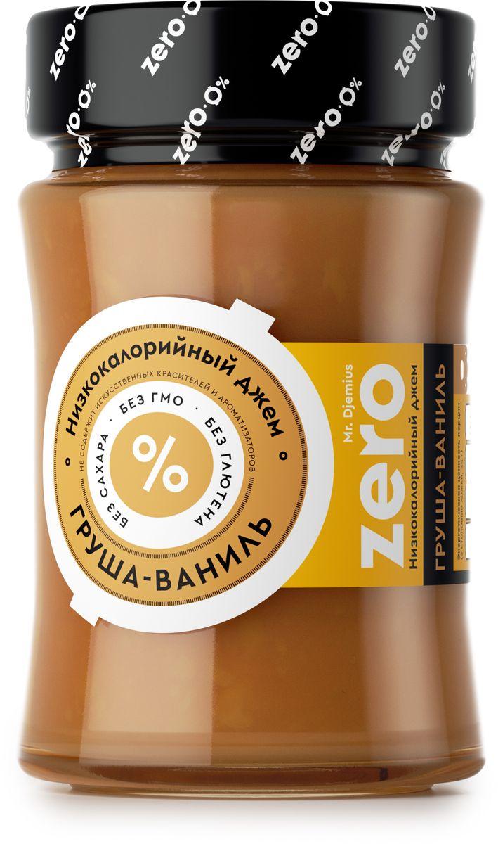 Mr. Djemius zero низкокалорийный джем груша-ваниль, 270 г0120710Тонкий аромат и солнечное послевкусие никого не оставит равнодушным, а польза груши известна многим. Приготовленный из свежих фруктов, этот джем хорошо сочетается с блинчиками, тостами, кашами, а также подойдет как самостоятельное блюдо и дополнит вашу диету в качестве десерта.