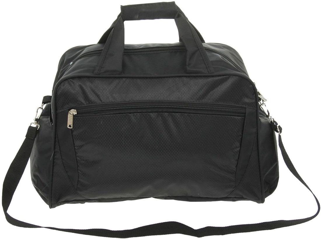 Сумка дорожная ZFTS, цвет: черный. 1127838М311Дорожная сумка ZFTS самый современный и демократичный вариант аксессуара. Сумка выполнена из прочного текстиля.Объёмное отделение сумки вмещает все необходимые вещи: от нижнего белья до верхней одежды. А удобные карманы предназначены для хранения предметов первой необходимости: косметички, зубной щётки или влажных салфеток.Модель оснащена широкими ручками и длинным съёмным ремнём для комфортной переноски. Дорожный аксессуар прослужит много лет, так как изготовлен из прочного текстиля, устойчивого к выцветанию.