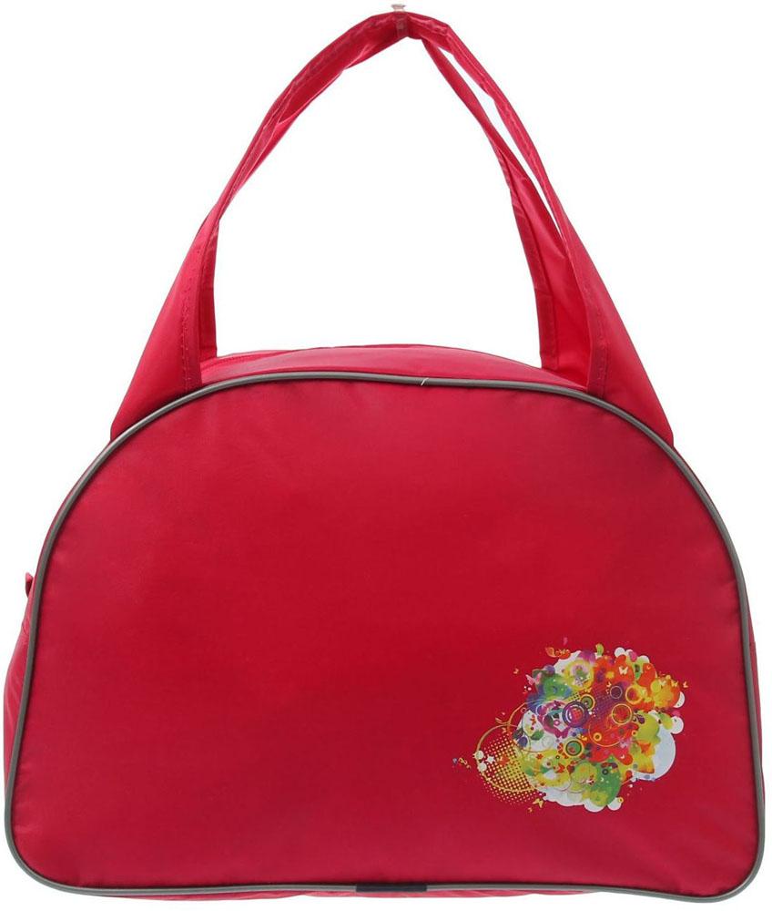 Сумка дорожная ZFTS, цвет: розовый. 828704828704Универсальная сумка ZFTS будет незаменима для путешествий, поездок за город или занятий спортом. Практичный аксессуар выполнен из прочного текстиля, легко моется и не требует особого ухода. Основное отделение с застёжкой на молнии вместит большое количество вещей и предметов, таких как спортивная одежда и обувь, предметы гигиены для похода в фитнес-клуб и так далее. Две широкие ручки равномерно распределяют нагрузку.