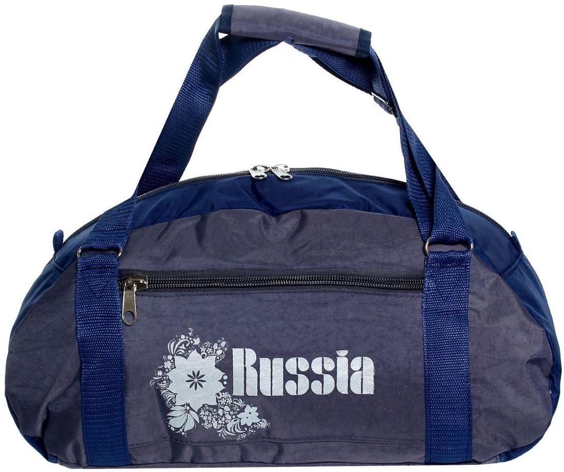 Сумка дорожная ZFTS, цвет: серый, синий. 828726
