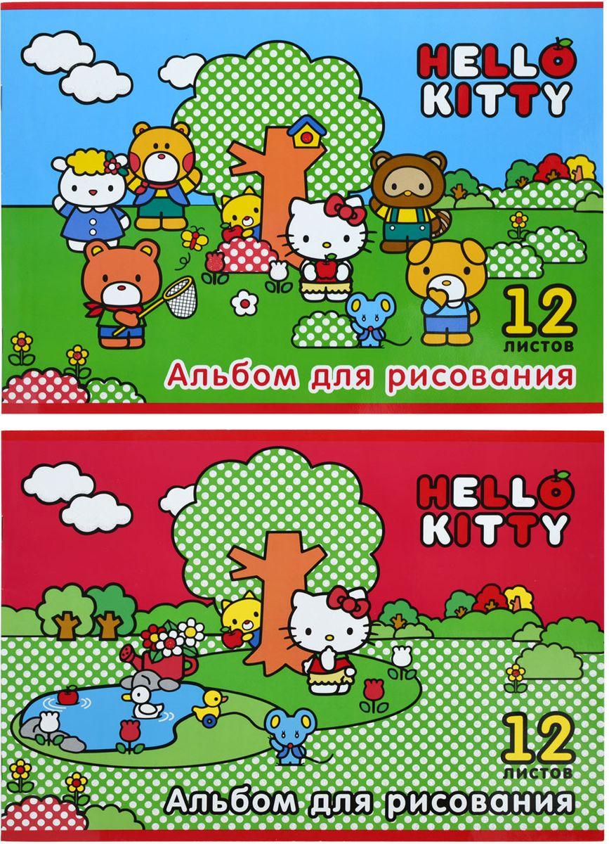 Action! Альбом для рисования Hello Kitty 12 листов цвет красный синий 2 шт42810Альбом для рисования Action! Hello Kitty выполнен из качественной бумаги белого цвета с яркой обложкой из плотного картона.Внутренний блок альбома состоит из 12 листов белой бумаги, соединенной двумя металлическими скрепками. Увлечение изобразительным творчеством носит не только развлекательный характер, но и развивает цветовое восприятие, зрительную память и воображение. В наборе два альбома для рисования.