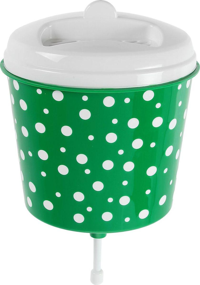 Рукомойник Альтернатива Горошек, цвет: белый, зеленый, 3 л1129947Оригинальный рукомойник поможет вам поддерживать чистоту рук на вашем дачном участке. Рукомойник изготовлен прочного пластика. Крышка плотно прилегает к рукомойнику, что препятствует попаданию грязи и пыли в воду. На крышке рукомойника предусмотрено место под мыло.