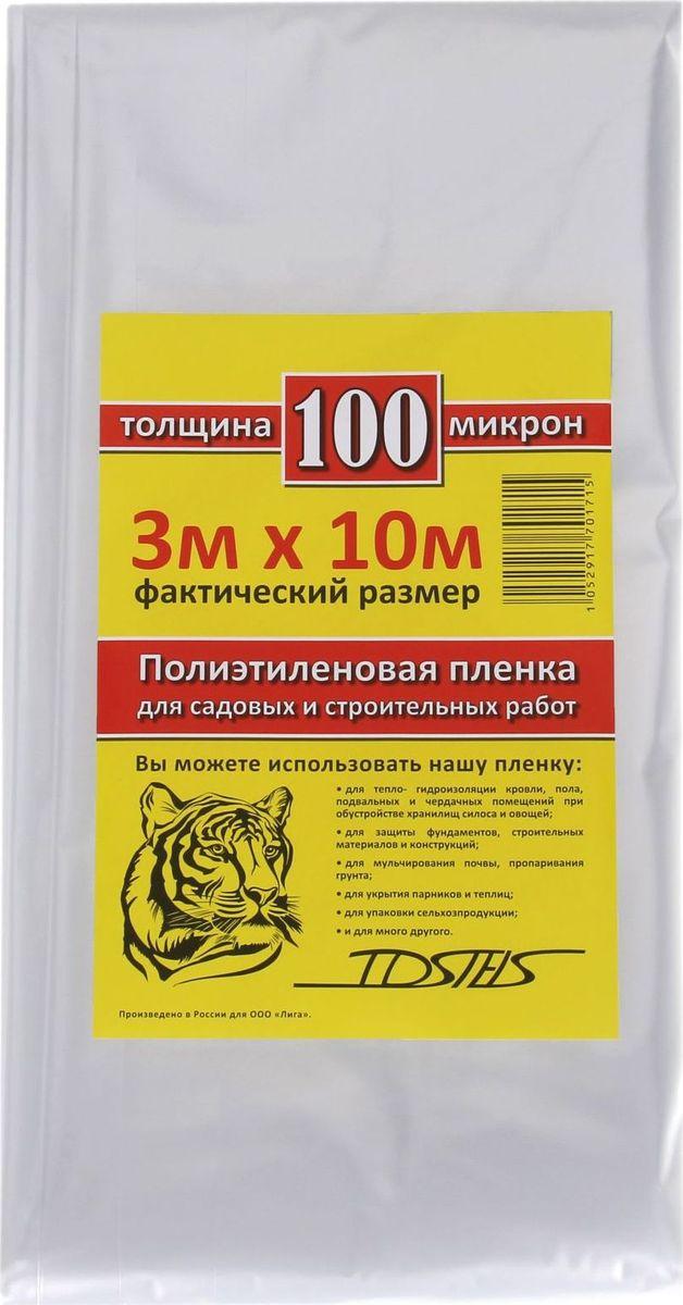 Пленка укрывная Tdstels, 3 х 10 м. 13529711352971Пленка укрывная Tdstels изготовлена из прочного полиэтилена. С её помощью вы избавитесь от многих хлопот. Сфера применения материала чрезвычайно широка:-тепло- и гидроизоляция кровли, пола, подвальных и чердачных помещений при обустройстве хранилищ силоса и овощей;-укрытие парников и теплиц;-мульчирование почвы и пропаривание грунта;-упаковка сельхозпродукции.Эксплуатационные преимущества изделия:-прочный полиэтилен непроницаем для влаги и пыли;-материал изготовления отличается надёжностью и долговечностью;-изделие неприхотливо к условиям хранения и эксплуатации.