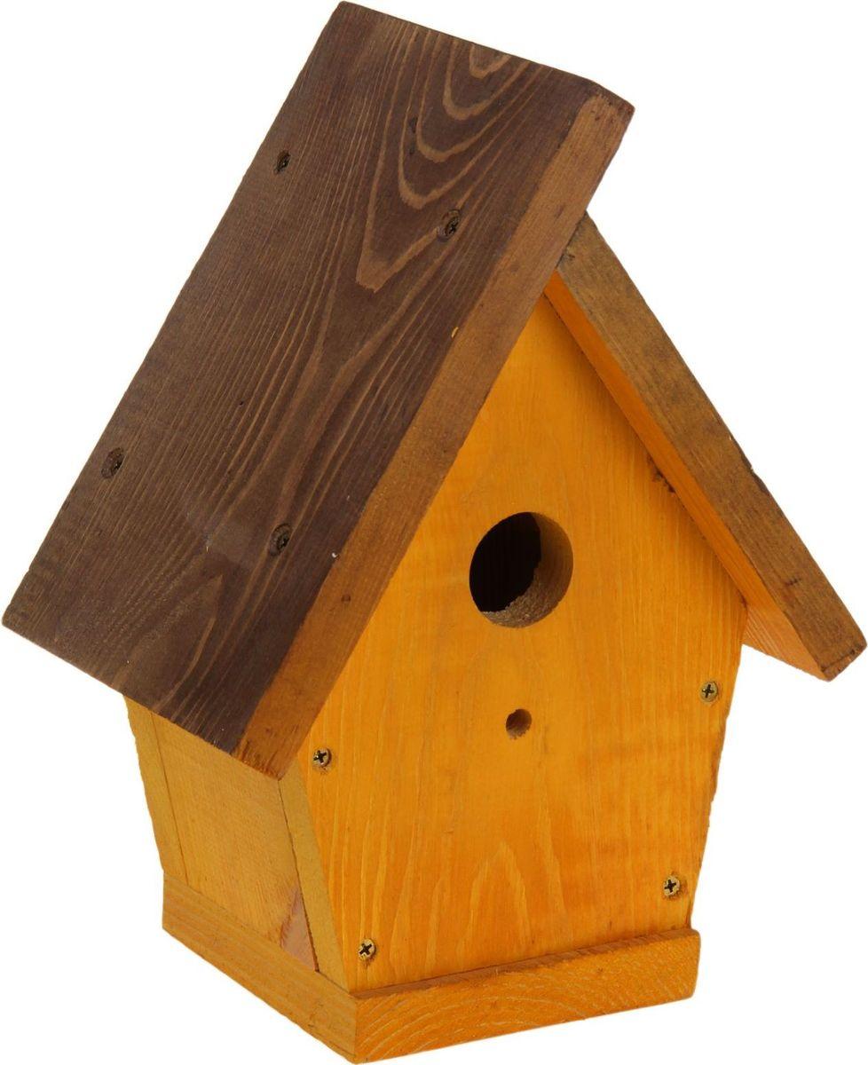 Скворечник, 18 х 33 х 25 см1376883Скворечник декоративный - прекрасный выбор для комфортного отдыха и эффективного труда на даче, который будет радовать вас достойным качеством.