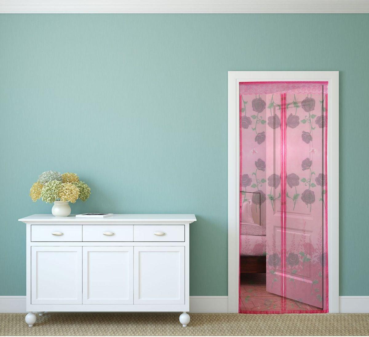 Сетка антимоскитная Noname Цветы, на магнитной ленте, цвет: розовый, 80 х 210 смAS 25Занавес от насекомых Noname Цветы выполнен на магнитной ленте и универсален в использовании. Необходимо просто подвесить его при входе в садовый дом или балкон, чтобы предотвратить попадание комаров внутрь жилища. Чтобы зафиксировать занавес в дверном проеме, достаточно закрепить занавеску по периметру двери с помощью кнопок, идущих в комплекте. Принцип действия занавеса: каждый раз, когда вы будете проходить сквозь шторы, они автоматически захлопнутся за вами благодаря магнитам, расположенным по всей его длине.