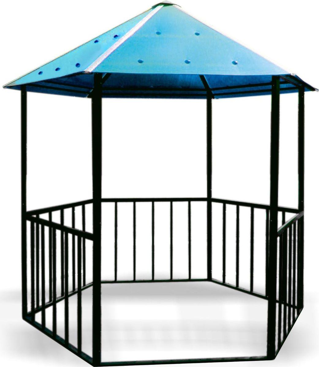 Беседка садовая Семейная, разборная, с крышей, цвет: синий, 2,5 х 2,5 м1397277