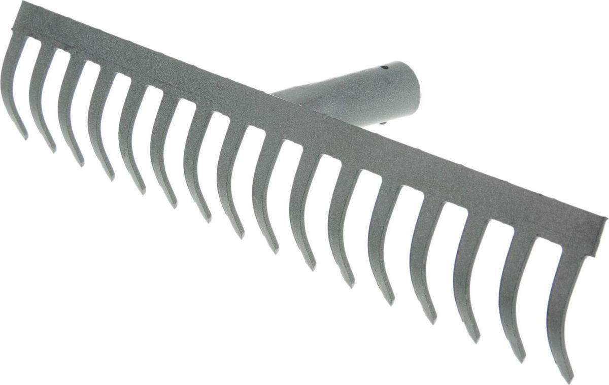 Грабли, 42 х 8 х 9,5 см531-402Грабли подходят для наведения порядка на участке, вычёсывания травы, сбора опавших листьев.От коррозии инструмент предохраняет специальное покрытие из порошковой эмали. Металлические зубцы разровняют даже тяжёлую влажную почву, разобьют большие комки земли. По окончании использования очистите рабочую часть инструмента от остатков грунта. Храните в закрытом помещении.Черенок в комплект не входит.