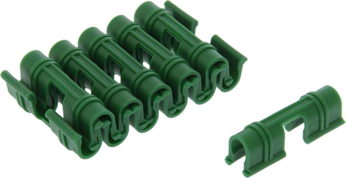 Крепления для укрывного материала, 12 шт74-0080Специальные крепления для укрывного материала не боятся порывов ветра. Они плотно прилегают к дугам парников и придают конструкции устойчивость. Пластиковые изделия можно использовать несколько сезонов.