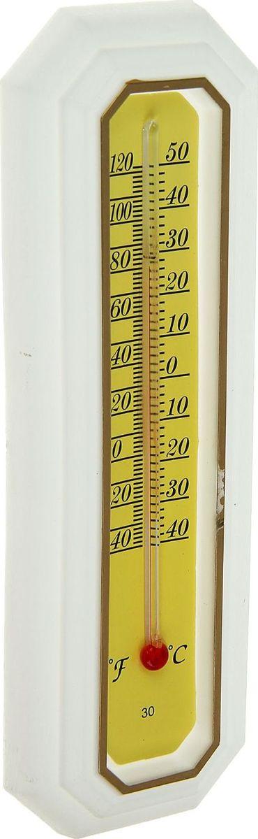 Термометр садовый, спиртовой, уличный, цвет: белый, 17 х 5,5 см09840-20.000.00Уличный термометр предназначен для определения температуры воздуха снаружи помещения. Жидкость в столбике представляет собой подкрашенный спирт, что делает изделие безопасным. Такой прибор пригодится дома, на работе, а также в учебных, медицинских и других учреждениях. Характеристики Тип: спиртовой. Предназначение: для измерения температуры на улице. Отображение температуры воздуха: °С,°F. Материал: пластик.