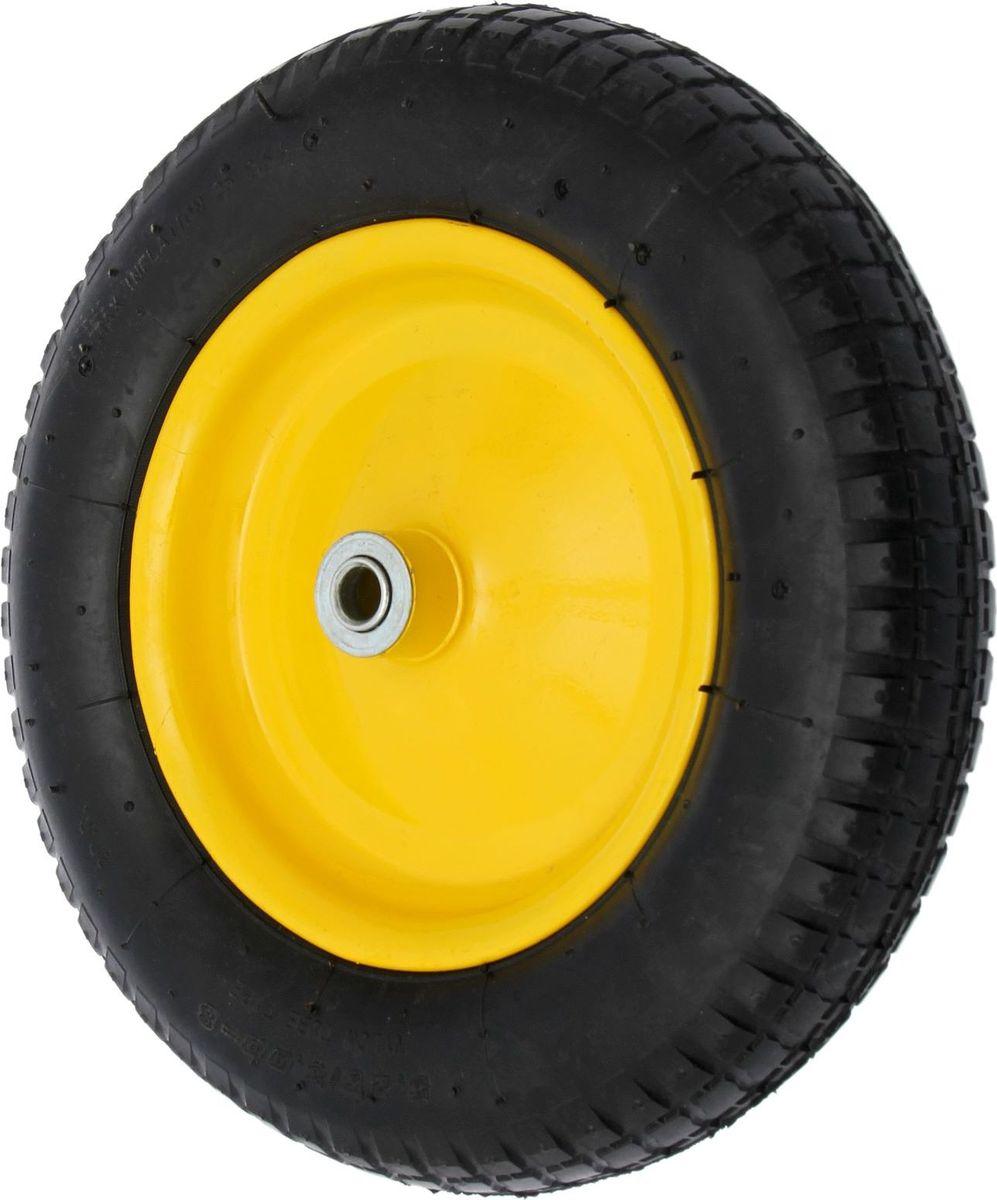 Колесо запасное для тачки, с подшипником, диаметр колеса 35 см. 14468051446805Колесо является запасным элементом для тачки. Колесо имеет резиновую шину и яркий крашенный диск. Шариковый металлический подшипник обеспечивает прочность и надежность конструкции. Диаметр втулки: 16 мм. Диаметр колеса: 350 мм. Диаметр диска: 220 мм. Ширина протектора: 80 мм.