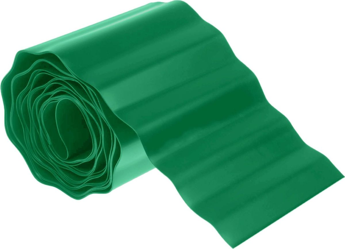 Лента бордюрная Доляна, цвет: зеленый, 10 см х 9 м1410749Бордюрная лента «Доляна» — простой и доступный способ создать оригинальный ландшафтный дизайн. Используйте данное изделие везде, куда только заведёт вас фантазия! Такой разделительный материал гарантирует защиту от рассеивания гравия, вымывания грунта и разрастания сорняков, а также придаёт участку ухоженный внешний вид.Существует огромное количество вариантов использования этого универсального приспособления:формирование насыпных дорожекформирование бортиков грядок, равномерное орошение наклонных грядокоформление клумб и альпийских горокоформление искусственных водоёмовоформление приствольных кругов деревьевограждение рассадыгерметизация теплицы по периметругерметизация пространства между забором и грунтомвыстилание садовых тропинок, дорожек в теплицезащита основания построек от грунта и водыподкровельная изоляцияподкладочный материал для баков, бочекнапольное покрытие в хозяйственных постройкахвыстилание компостных ям, изготовление компостных куч. Преобразите сад или дачу с бордюрной лентой «Доляна»!