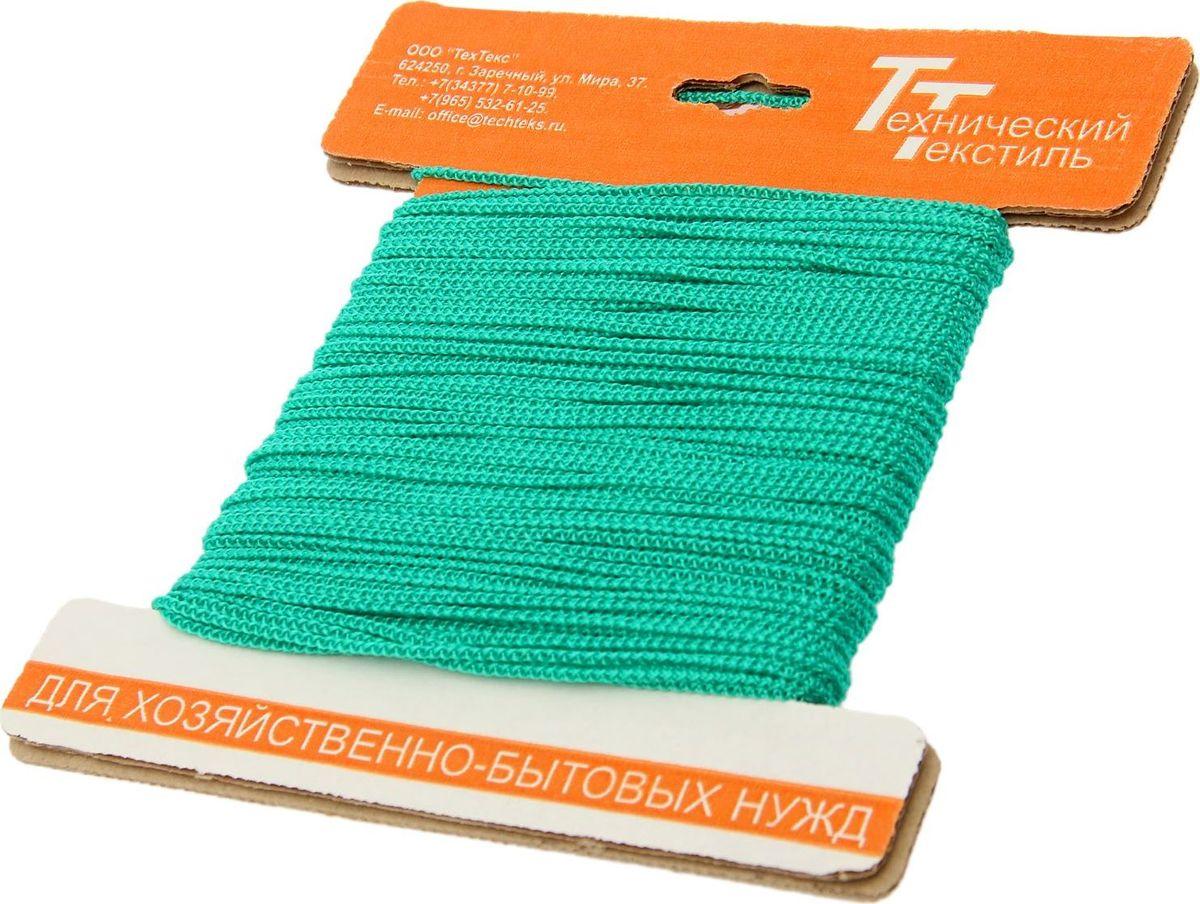 Шнур вязаный, цвет: зеленый, 2 мм, 30 м