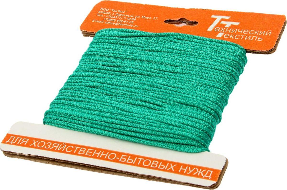 Шнур вязаный, цвет: зеленый, 3 мм, 30 м