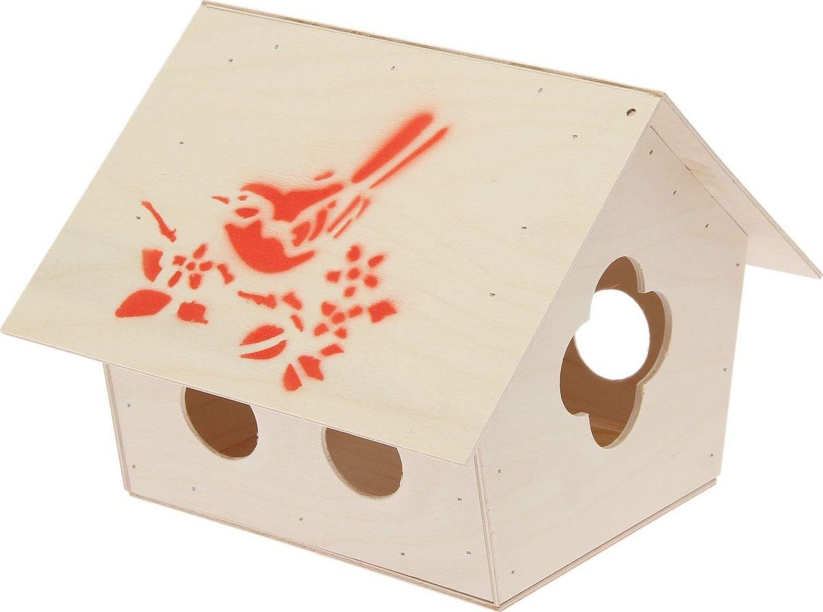 Кормушка для птиц Ромашка, 25 х 27 х 21 см531-105Кормушка для птиц Ромашка представляет собой небольшой деревянный домик выполненный из дерева. Крыша кормушки защищает пищу птиц и сохраняет ее сухой и свежей.Габариты кормушки: 25 х 27 х 21 мм.