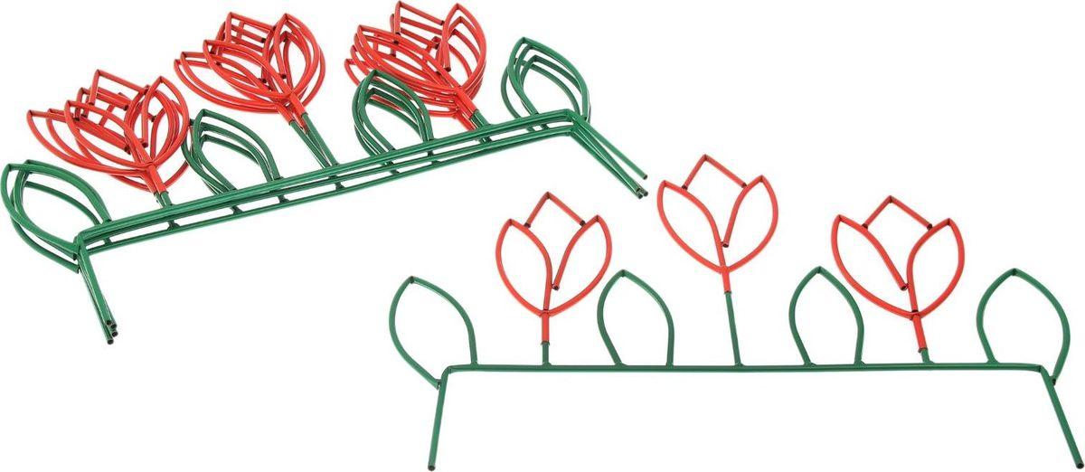 Ограждение садовое декоративное Весенний, 5 секций, цвет: зеленый, 66 х 445 см2083036Ограждение декоративное Весенний имеет 5 секций, с заглушками защитит ваши цветники от непоседливых детей и любопытных животных.Металлическое изделие имеет ряд преимуществ:Длительный срок службы. Забор защищен от коррозии специальным покрытием. Ограждению не страшна непогода. Надежность.Благодаря своей прочности выдерживает механические нагрузки. Яркий, насыщенный цвет не потускнеет со временем и не выгорит на солнце. Простой уход.Характеристики:Всего секций: 5 шт. Размеры: 66 х 445 см.
