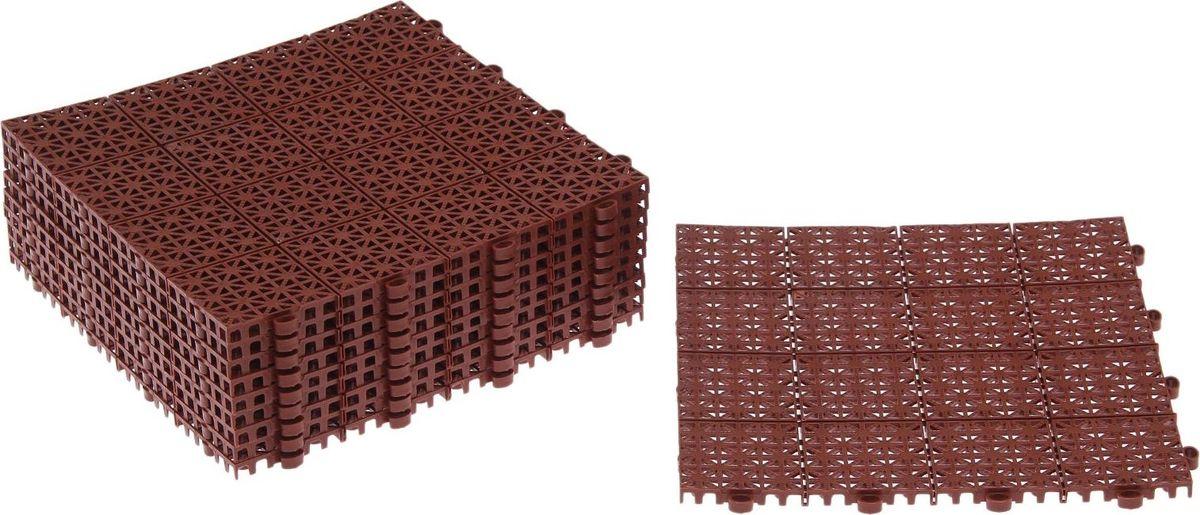Плитка садовая, цвет: терракотовый, 30 х 30 см, 10 шт2144338Плитка садовая выполнена из качественного пластика. Изделие отличается прочностью, износостойкостью и практичностью. Предназначено для укладки садовых дорожек. Размер: 30 х 30 см. В комплекте 10 плиток.