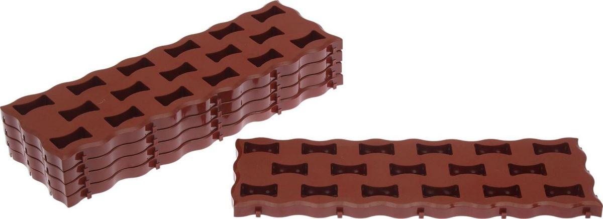 Плитка садовая, цвет: терракотовый, 59 х 19,5 см, 5 шт2144345Плитка садовая выполнена из качественного пластика. Изделие отличается прочностью, износостойкостью и практичностью. Предназначено для укладки садовых дорожек. Размер: 59 х 19,5 см. В комплекте 10 плиток.