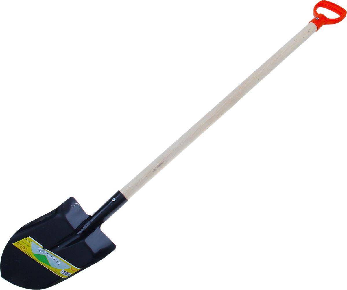 Лопата штыковая Арти Копанец-Комби-Е, с черенком и евроручкой, длина 139 см508688Лопата - один из главных инструментов на даче и в огороде. Данная модель предназначена для обработки почвы и выкапывания ям. Изделие выполнено из металла, что делает конструкцию прочной и надёжной для работы.Тип: комбинированная, штыковая.Длина: 139 см. Материал: металл, дерево, пластик.