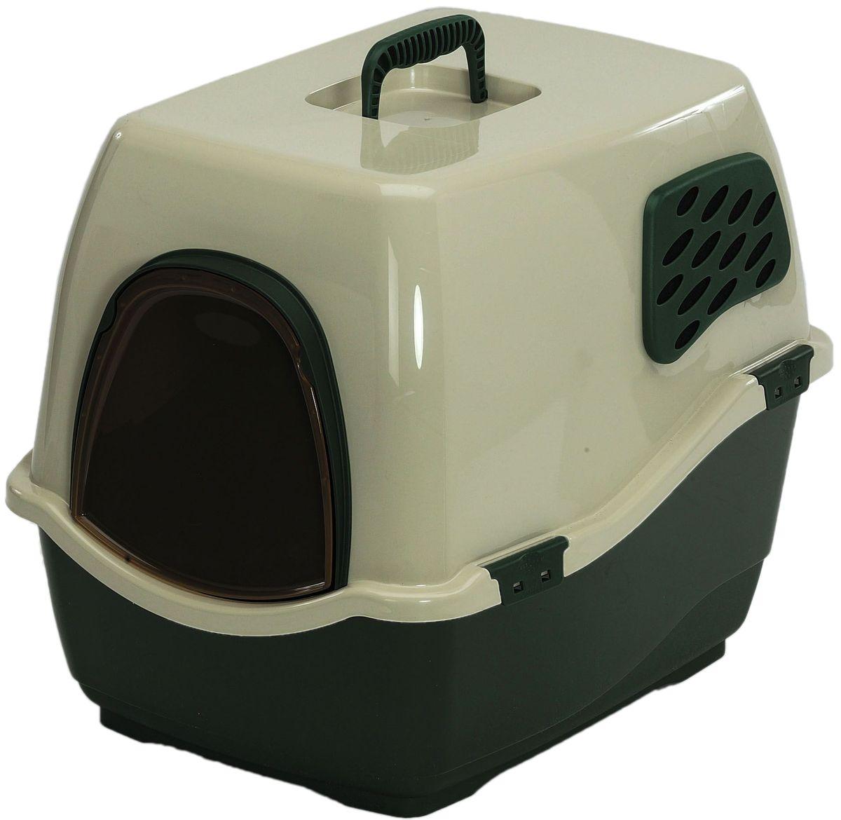 Био-туалет Marchioro Bill 2F, цвет: зеленый, бежевый, 57 х 45 х 48 см0120710Marchioro био-туалет BILL 2F. Закрытый туалет с угольным фильтром препятствует распространению неприятных запахов.Подвижная передняя створка позволяет животному самостоятельно пользоваться туалетом.В комплект также входит фильтр, дверка и ручка. Фильтр необходимо менять каждые 3-6 месяцев. Размер 57х45х48h.