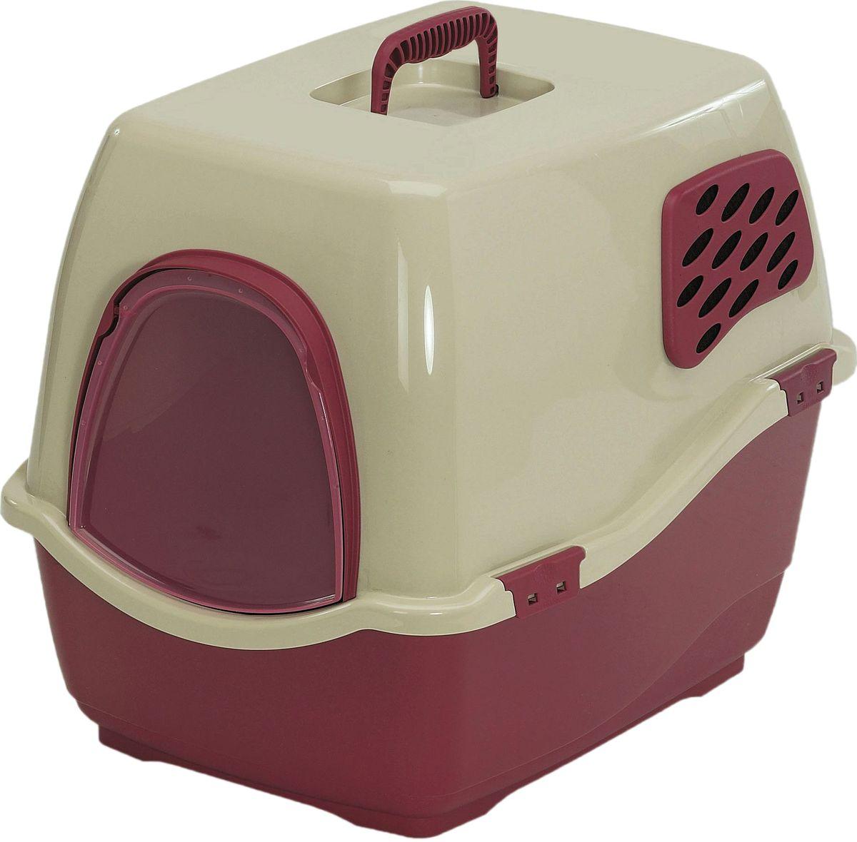Био-туалет Marchioro Bill 2F, цвет: коричневый, бежевый, 57 х 45 х 48 см0120710Marchioro био-туалет BILL 2F. Закрытый туалет с угольным фильтром препятствует распространению неприятных запахов.Подвижная передняя створка позволяет животному самостоятельно пользоваться туалетом.В комплект также входит фильтр, дверка и ручка. Фильтр необходимо менять каждые 3-6 месяцев. Размер 57х45х48h.