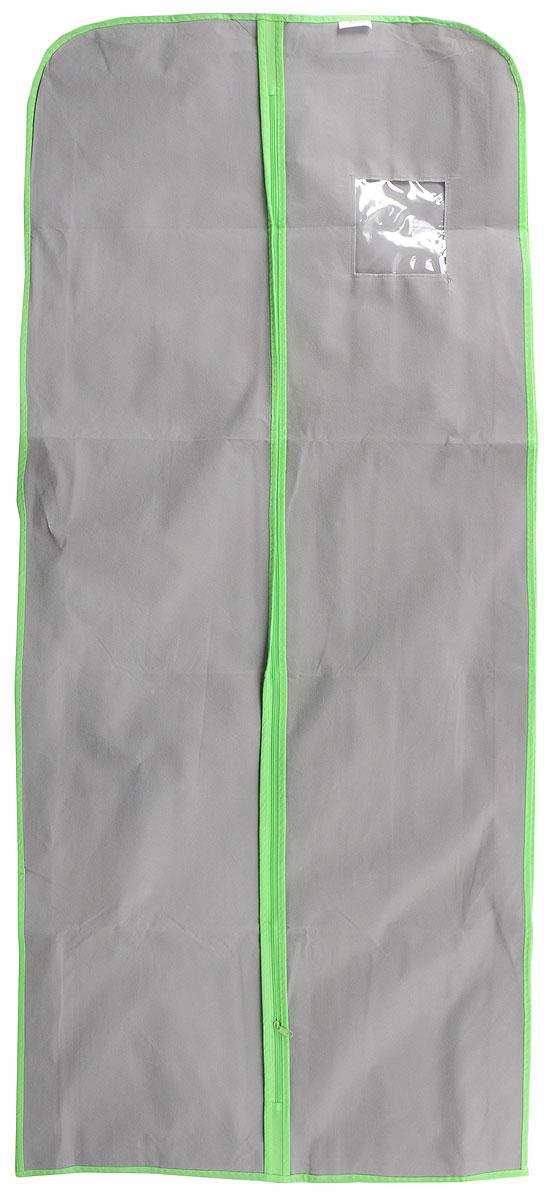 Чехол для меховой одежды Хозяюшка Мила, тканевый, цвет: серый, зеленый, 60 х 137 см74-0120Чехол для меховой одежды Хозяюшка Мила изготовлен из вискозы и оснащен застежкой-молнией. Особое строение полотна создает естественную вентиляцию: материал дышит и позволяет воздуху свободно проникать внутрь чехла, не пропуская пыль. Полиэтиленовое окошко позволяет увидеть, какие вещи находятся внутри. Широкая боковая вставка позволяет бережно хранить объёмную зимнюю одежду, такую как меховые шубы, дублёнки, пуховики. Чехол для меховой одежды Хозяюшка Мила защитит ваши вещи от повреждений, пыли, моли, влаги и загрязнений.