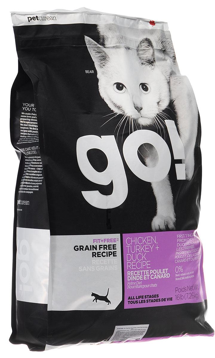 Корм сухой Go! для кошек и котят, беззерновой, с курицей, индейкой, уткой и лососем, 7,26 кг20033Беззерновой сухой корм Go! для котят и кошек - это корм со сбалансированным содержание белков и жиров. Ключевые преимущества:- Полностью беззерновой,- Небольшое количество углеводов гарантирует поддержание оптимального веса кошки,- Пробиотики и пребиотики обеспечивают здоровое пищеварение,- Не содержит субпродуктов, красителей, говядины, мясных ингредиентов, выращенных на гормонах,- Таурин необходим для здоровья глаз и нормального функционирования сердечной мышцы,- Докозагексаеновая кислота (DHA) и эйкозапентаеновая кислота (EPA) необходима для нормальной деятельности мозга и здорового зрения,- Омега-масла в составе необходимы для здоровой кожи и шерсти,- Антиоксиданты укрепляют иммунную систему.Состав: свежее мясо курицы, филе курицы, филе индейки, утиное филе, свежее мясо индейки, свежее мясо лосося, филе форели, куриный жир (источник витамина Е), натуральный рыбный ароматизатор, горох, картофель, свежие цельные яйца, картофельная мука, тапиока, филе лосося, филе утки, масло лосося, тыква, яблоки, морковь, бананы, черника, клюква, чечевица, брокколи, шпинат, творог, люцерна, сладкий картофель, ежевика, папайя, ананас, фосфорная кислота, хлорид натрия, хлорид калия, DL-метионин, таурин, холин хлорид, сушеный корень цикория, Lactobacillus, Enterococcusfaecium, Aspergillus, витамины (витамин А , Витамин D3, витамин Е, никотиновая кислота, инозит, L-аскорбил-2-полифосфатов (источник витамина С), тиамина мононитрат, D-пантотенат кальция, рибофлавин, пиридоксин гидрохлорид, бета-каротин, фолиевая кислота, биотин, витамин В12), минералы.Гарантированный анализ: белки 46%, жиры 18%, клетчатка 1,5%, влажность (max) 10%, зола (max) 9%, фосфор 1,1%, магний 0,09%, таурин 2050мг/кг, жирные кислоты Омега 6 (min) 3,1%, жирные кислоты Омега 3 (min) 0,3%, лактобактерии (Lactobacillus acidophilus, Enterococcus faecium) 90000000 cfu/lb.Калорийность: 4298 ккал/кг.Вес: 7,26 кг.Товар сертифи