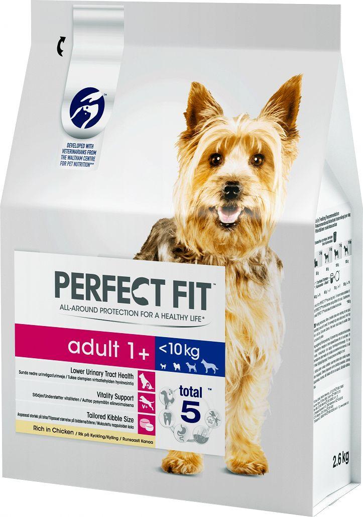 Корм сухой  Perfect Fit , для взрослых собак от 1 года мелких и миниатюрных пород, с курицей, 2,6 кг
