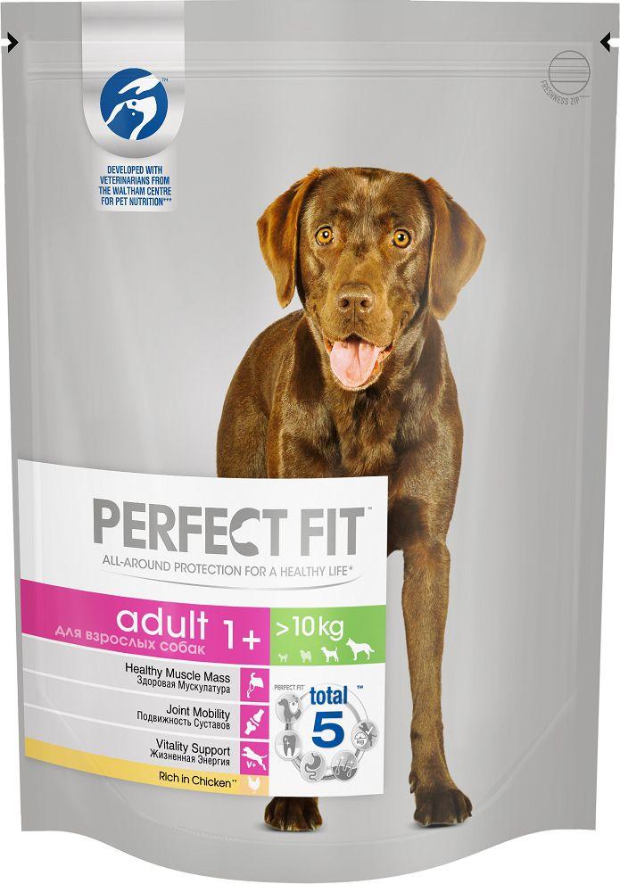 Корм сухой Perfect Fit, для взрослых собак от 1 года средних и крупных пород, с курицей, 800 г0120710Система профессионального питания Perfect Fit разработана совместно с диетологами и ветеринарами научно-исследовательского центра Waltham и специально создана для поддержания активности и жизненной энергии собаки на протяжении всей жизни.В основе профессионального рациона Perfect Fit лежит уникальная формула PERFECT FIT TOTAL 5 FORMULA, которая заботится о важнейших слагаемых здоровья в соответствии с размером и возрастом собаки. Также данная рецептура учитывает особые потребности взрослых собак средних и крупных пород:ЗДОРОВАЯ МУСКУЛАТУРАСодержит белки высокого качества для поддержания сильной и здоровой мускулатурыПОДВИЖНОСТЬ СУСТАВОВСодержит натуральный источник глюкозамина для поддержания здоровья суставов, что способствует хорошей подвижности собакиЖИЗНЕННАЯ ЭНЕРГИЯСодержит повышенные уровни витаминов В1, В2, В6 и железа, способствующие поддержанию активности собакиРекомендации по кормлению: При переходе на корм Perfect Fit с курицей для взрослых собак средних и крупных пород старше одного года, постепенно вводите его в рацион собаки в течение 4 дней. Мы рекомендуем кормить вашу собаку 2 раза в день. Разделите суточную норму, указанную в таблице на упаковке, на количество кормлений в день. Придерживайтесь рекомендуемых норм кормления, однако индивидуальная норма кормления вашей собаки зависит от ее возраста, условий содержания, темперамента и активности. Ваша собака постоянно должна иметь достаточно чистой и свежей воды для питья. Корм полнорационный и сбалансированный, поэтому не требуется добавление витаминов или минералов дополнительно в рацион собаки. Состав: курица* (18%), кукуруза, пшеница, жир куриный, гидролизат животного происхождения, высушенная пульпа сахарной свеклы (3%), сухое цельное яйцо (1,2%), соль, натрий триполифосфат (0,7%), холин хлорид, масло подсолнечное (0,4%), калий хлорид, экстракт цикория (0,2%), минеральные вещества и витамины. *Натур