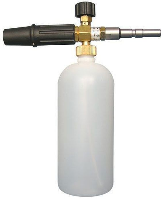 Пеногенератор Huter, регулируемый, для серии 135, 16506008A7800Пеногенератор регулируемый для серии 135,165 HuterПенопистолет Huter — специальная насадка из высокопрочного полипропилена к мойке высокого давления. Пенопистолет предназначен для нанесения пены на очищаемую поверхность.Пенопистолет для моек Huter имеет единую основу - это вспенивающий инжектор с бачком LS3.
