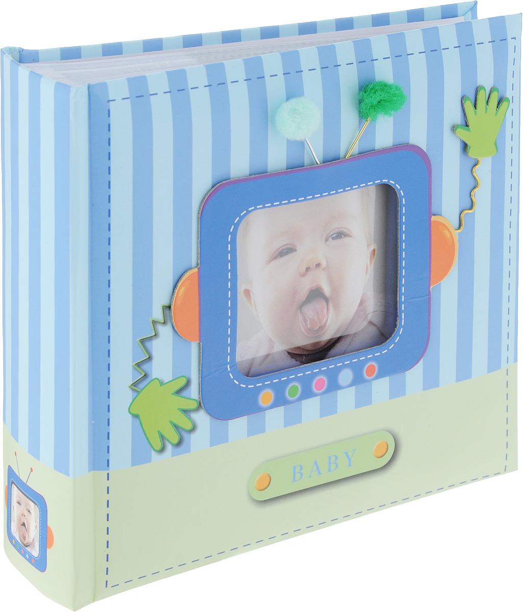 ФотоальбомImage Art -100 10x15 (BBM46100/1) серия 038 детский, цвет: голубой5055398693698Фотоальбом Image Art Baby поможет красиво оформить фотографии вашего малыша. Обложка выполнена из толстого картона. С лицевой стороны обложки имеется квадратное окошко для вашей самой любимой фотографии. Внутри содержится блок из 50 белых листов с фиксаторами-окошками из полипропилена. Альбом рассчитан на 100 фотографий формата 10 см х 15 см. Для фотографий предусмотрено поле для записей. Переплет - книжный. Нам всегда так приятно вспоминать о самых счастливых моментах жизни, запечатленных на фотографиях. Поэтому фотоальбом является универсальным подарком к любому празднику.Материал: картон, бумага, полипропилен.Количество листов: 50.Размер фотографии: 10 см х 15 см.