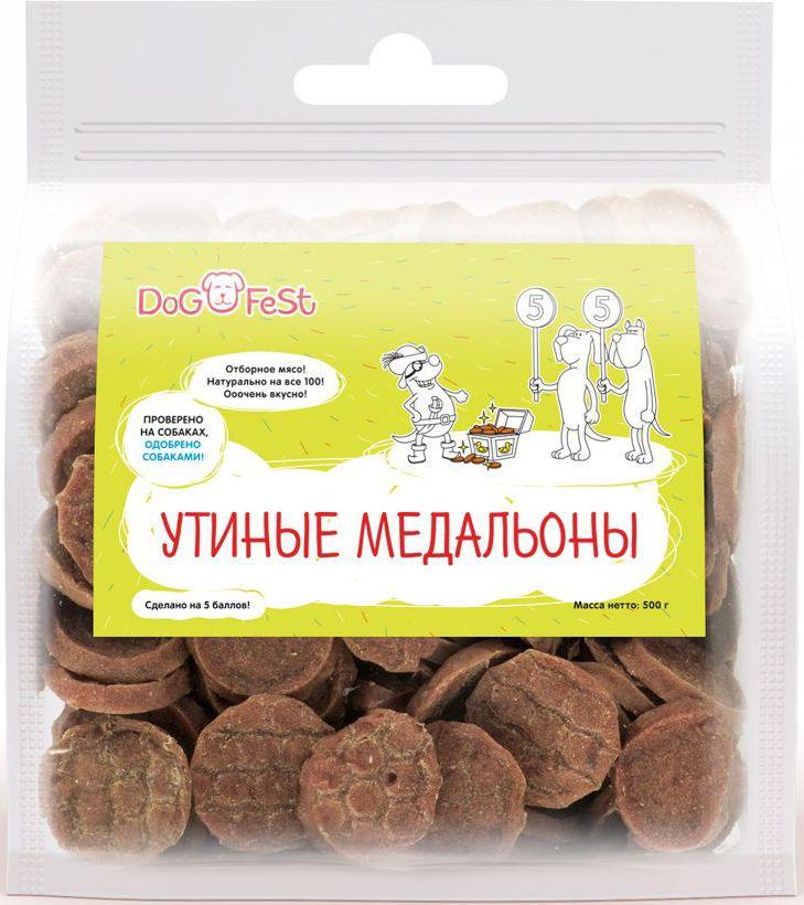 Лакомство для собак Dog Fest Утиные медальоны, 500 г64595Утиные медальоны