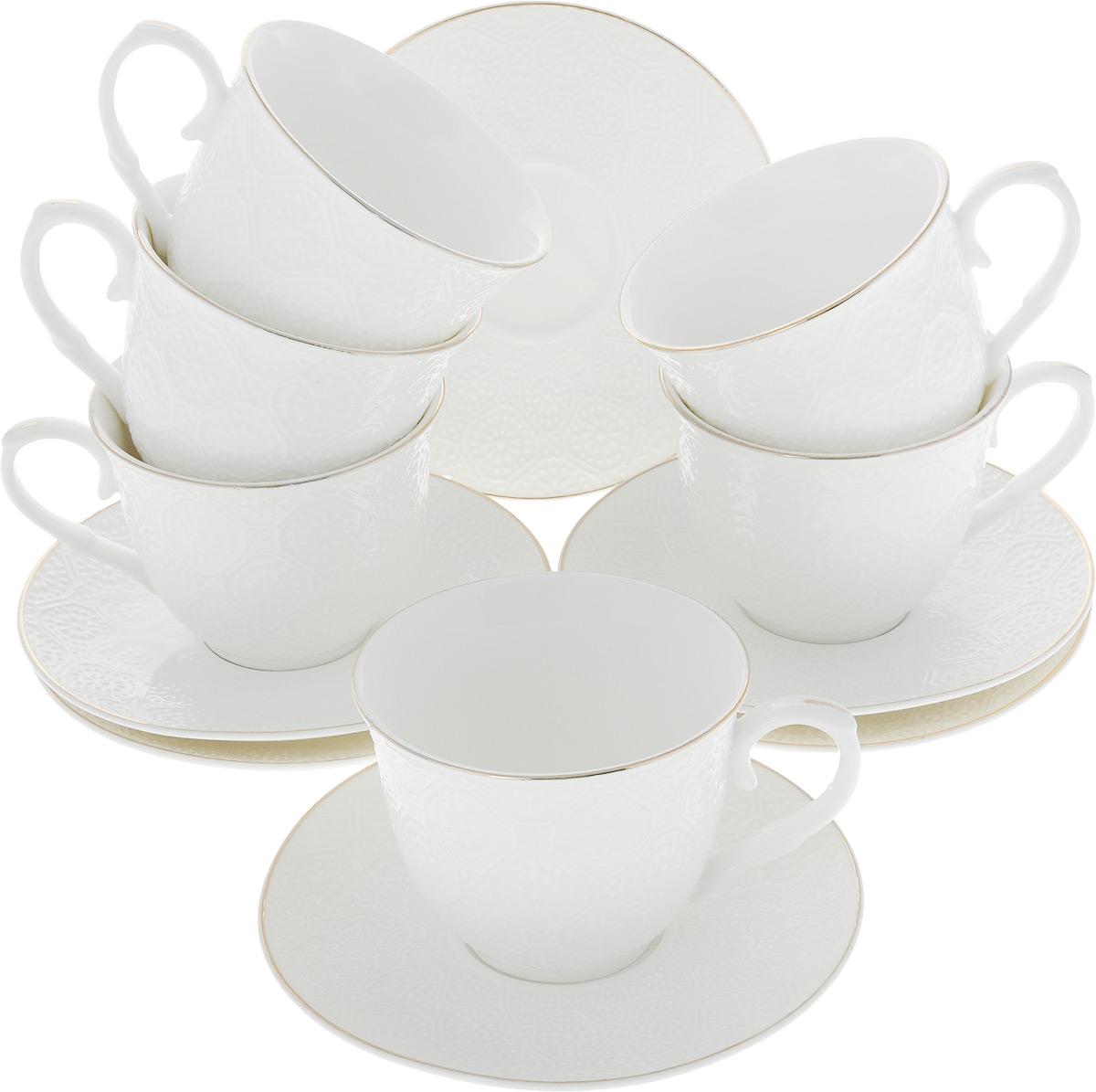 Сервиз чайный Loraine, 12 предметов. 26505 чайный сервиз loraine 200 мл 12 предметов 25931