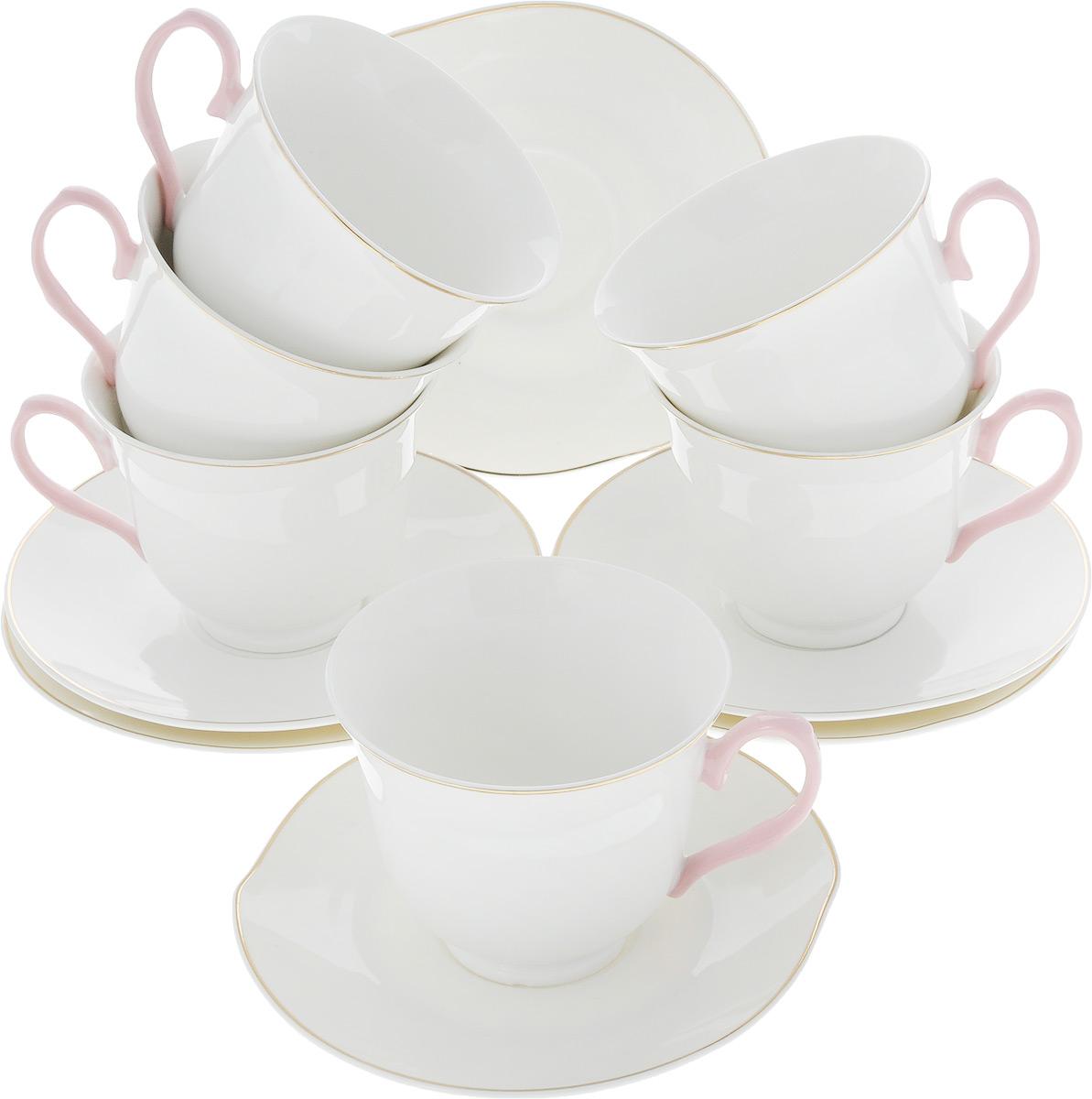 Сервиз чайный Loraine Нежность, 12 предметов. 26643 чайный сервиз loraine 200 мл 12 предметов 25931