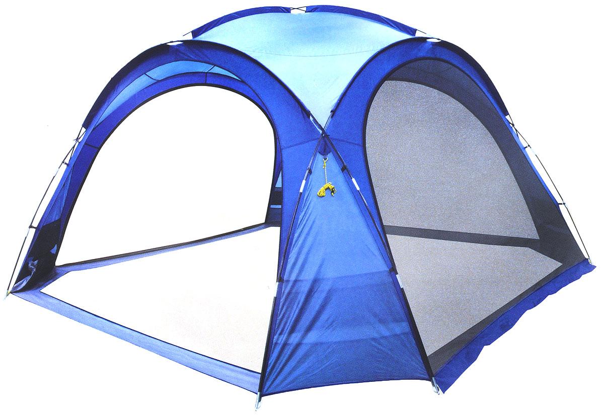 Шатер-тент Trek Planet Event Dome, четырехугольный, 425 х 425 х 235 см, цвет: синий, голубойWS 7064Универсальный шатер четырехугольной формы Trek Planet Event Dome с огромным внутренним помещением, отлично подойдет как для дачи, так и в качестве беседки на природе или вечеринки с друзьями! Съемные двери из москитной сетки со всех 4-х сторон, что позволяет шатру отлично проветриваться, защищая от насекомых. При желании все двери можно свернуть в специальные карманы по углам тента.Особенности шатра:Легко собирается и разбирается,Очень устойчив на ветру,Большие съемные москитные сетки-двери со всех сторон, убирающиеся в специальные карманы,Каркас: прочные дуги из стеклопластика,Вместительный карман для мелочей в каждом углу шатра,Защитный полог на дверях защищает от насекомых,Возможность подвески фонаря в шатре.Палатка упакована в сумку-чехол с ручками, застегивающуюся на застежку-молнию. Размер шатра: 425 см х 425 см х 235 см.Водостойкость тента: 1000 мм.Материал дуг: стеклопластик 12,7/9,5 мм.Размер в сложенном виде: 23 см х 87 см.