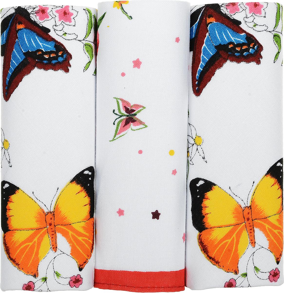 Платок носовой женский Zlata Korunka Бабочки, 3 шт. 71321-11. Размер 34 см х 34 см39864|Серьги с подвескамиПлаток носовой женский Zlata Korunka Бабочки, 3 шт. 71321-11. Размер 34 см х 34 см