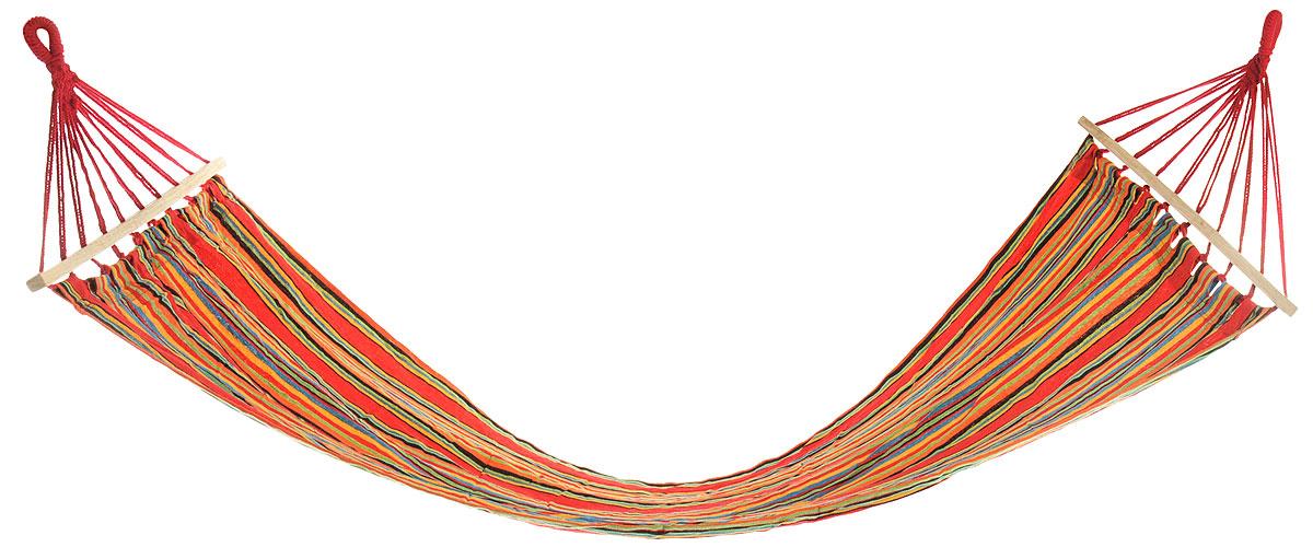 """Гамак Woodland """"Hammock"""", с планкой, цвет: красный, желтый, синий, 200 х 80 см"""