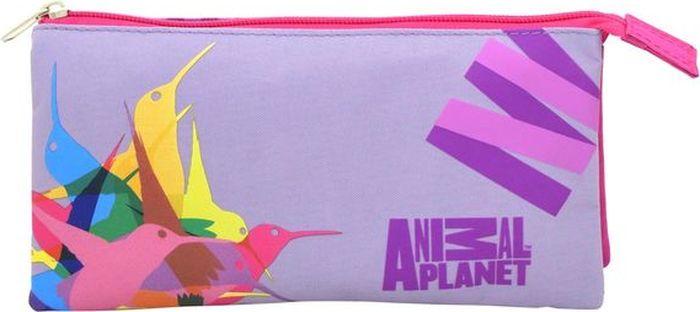 Action! Пенал-косметичка Animal Planet Колибри цвет розовый фиолетовый72523WDЛицензионный дизайн Animal Planet Колибри для девочек. Пенал-косметичка на 3 отделения, на 2 молнии, без наполнения, Дизайн с двух сторон. Размер 21 х 10 см. Три отделения, 2 молнии, без наполнения.