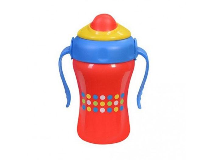 BabyOno Поильник-непроливайка с трубочкой от 12 месяцев цвет красный 280 мл