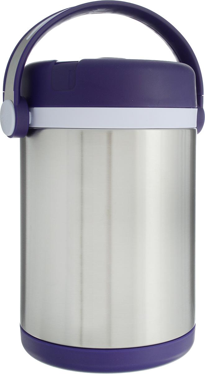 Термос Emsa Mobility, с контейнерами, цвет: фиолетовый, стальной, 1,7 л115510Термос Emsa Mobility, выполненный из нержавеющей стали и пластика, поможет вам сохранить нужную температуру продуктов. Термос сохраняет пищу горячей и холодной на протяжении длительного времени. Он оснащен внутренними контейнерами, которые можно разогревать в микроволновой печи, а также он оснащен ручкой для удобной переноски. Термос Emsa Mobility прекрасно подходит для дома, офиса и для путешествий. Диаметр термоса по верхнему краю: 11,5 см.Диаметр дна: 13 см.Высота термоса с учетом крышки: 17 см.Диаметр малого контейнера: 10 см. Высота малого контейнера (с учетом крышки): 5,5 см.Диаметр большого контейнера: 10 см. Высота большого контейнера (с учетом крышки): 11 см.Сохранение холода: 12 ч.Сохранение тепла: 6 ч.