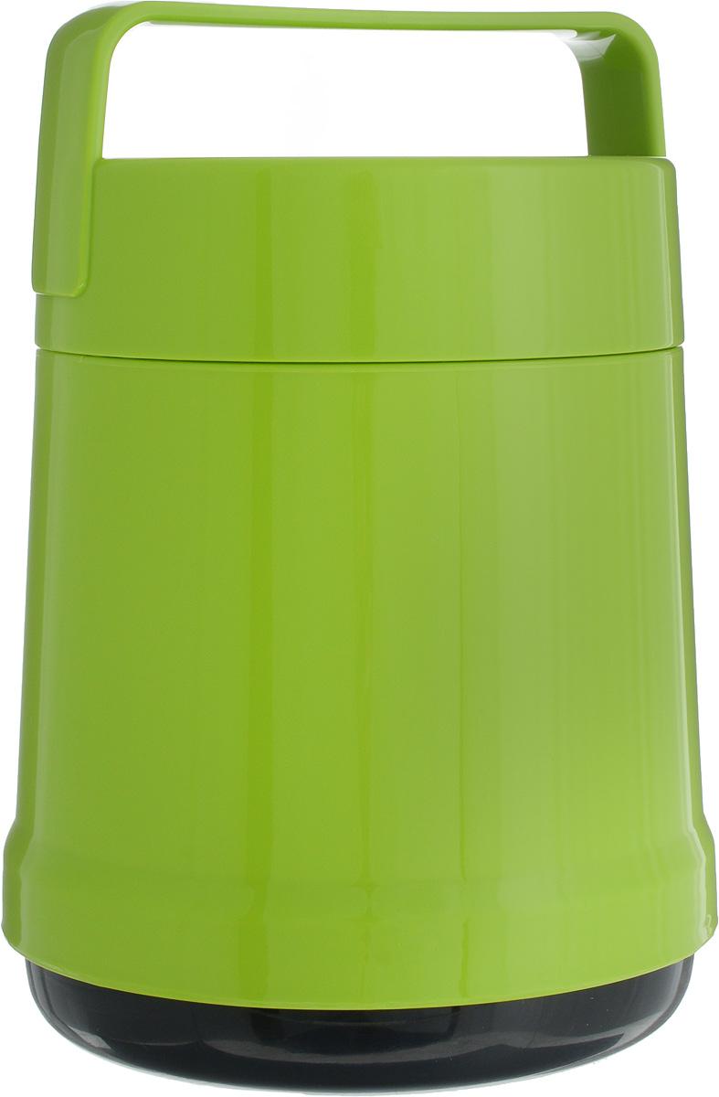 Термос для еды Emsa Rocket, цвет: зеленый, 1 л514534Термос с широким горлом Emsa Rocket выполнен из прочного цветного пластика со стеклянной колбой. Термос прост в использовании и очень функционален. В комплекте 2 контейнера, которые можно использовать в качестве мисок для еды. Легкий и прочный термос Emsa Rocket сохранит вашу еду горячей или холодной надолго.Высота (с учетом крышки): 22 см.Диаметр горлышка: 12,5 см.Диаметр дна: 14 см.Размер большого контейнера: 11,8 см х 11,8 см х 12,5 см.Размер маленького контейнера: 11 см х 10 см х 4,7 см.Сохранение холода: 12 ч.Сохранение тепла: 6 ч.