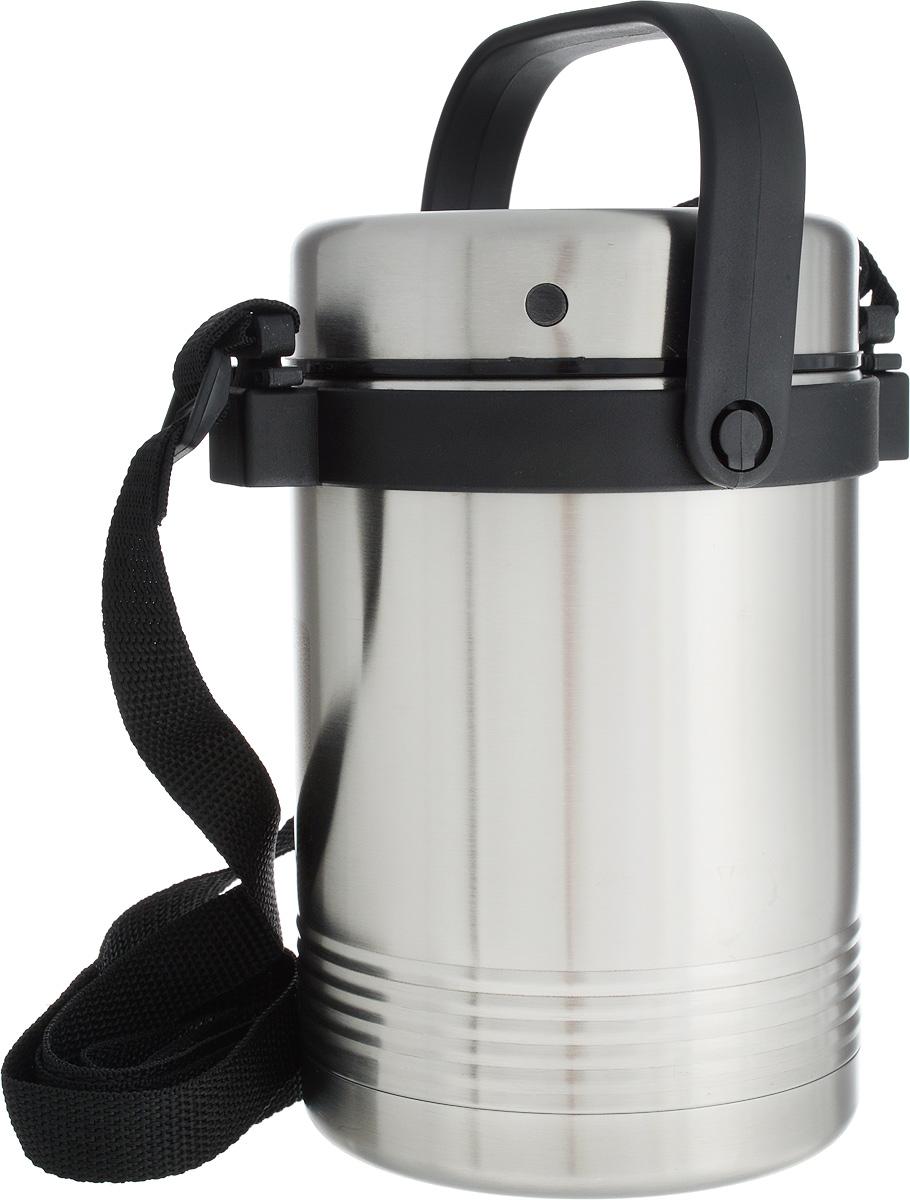 Термос для еды Emsa Senator, с контейнерами, 1,4 лVT-1520(SR)Термос Emsa Senator, выполненный из нержавеющей стали и пластика, поможет вам сохранить нужную температуру продуктов. Термос сохраняет пищу горячей и холодной на протяжении длительного времени. Он оснащен внутренними контейнерами, которые можно разогревать в микроволновой печи, а также он оснащен ручкой и ремнем. Термос Emsa Senator прекрасно подходит для дома, офиса и для путешествий. Диаметр термоса по верхнему краю: 11,5 см.Диаметр дна: 11 см.Высота термоса с учетом крышки: 20 см.Диаметр контейнера: 10 см. Высота контейнера (с учетом крышки): 7,5 см.Сохранение холода: 12 ч.Сохранение тепла: 6 ч.