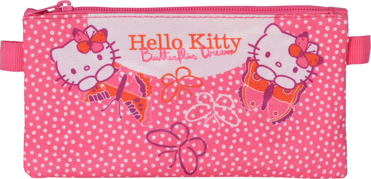 Action! Пенал-косметичка Hello Kitty цвет розовый72523WDЛицензионный дизайн HELLO KITTY для девочек. Пенал-косметичка, 1 отделение на молнии, без наполнения. Размер 21,5 х 12 см