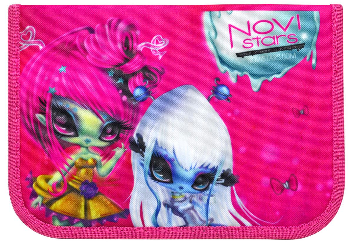 Action! Пенал Novi Stars цвет розовый