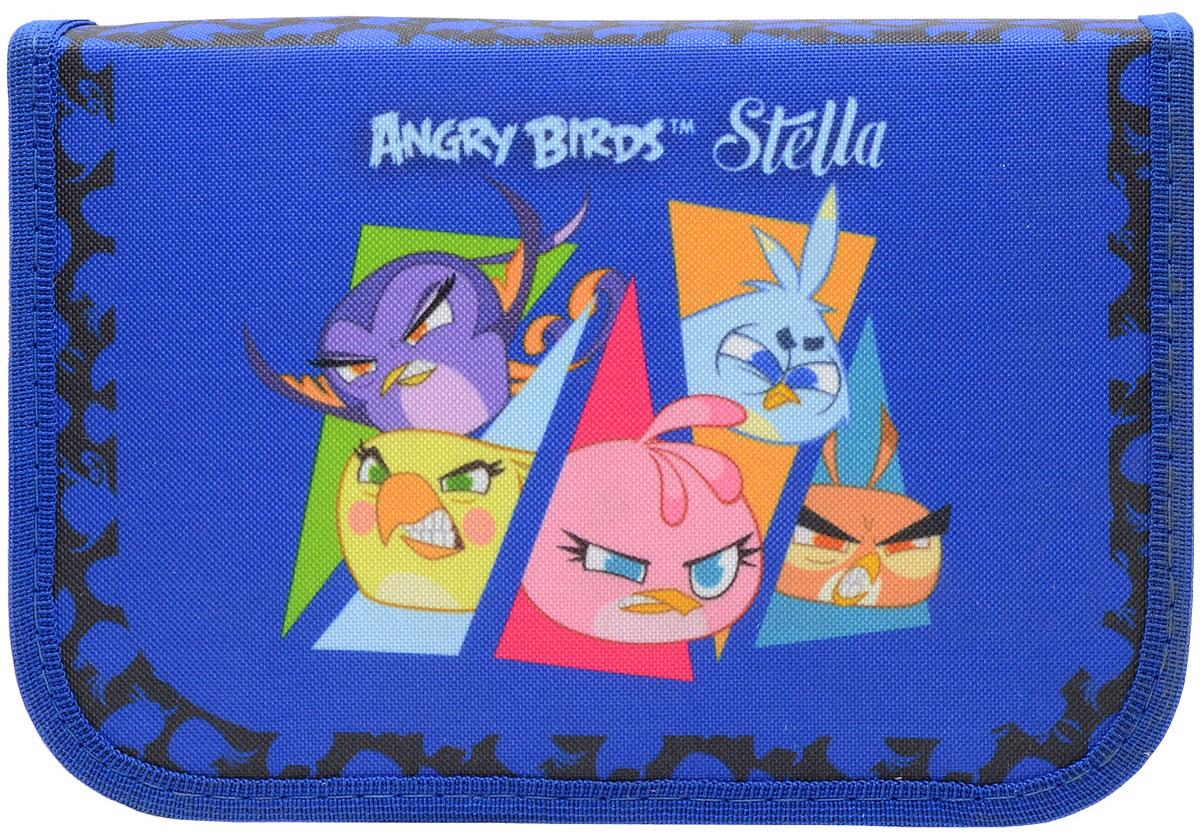 Action! Пенал Stella by Angry Birds цвет синий730396Материал - полиэстер. 1 отделение на молнии. Без наполнения. Размер 20 х 13 см