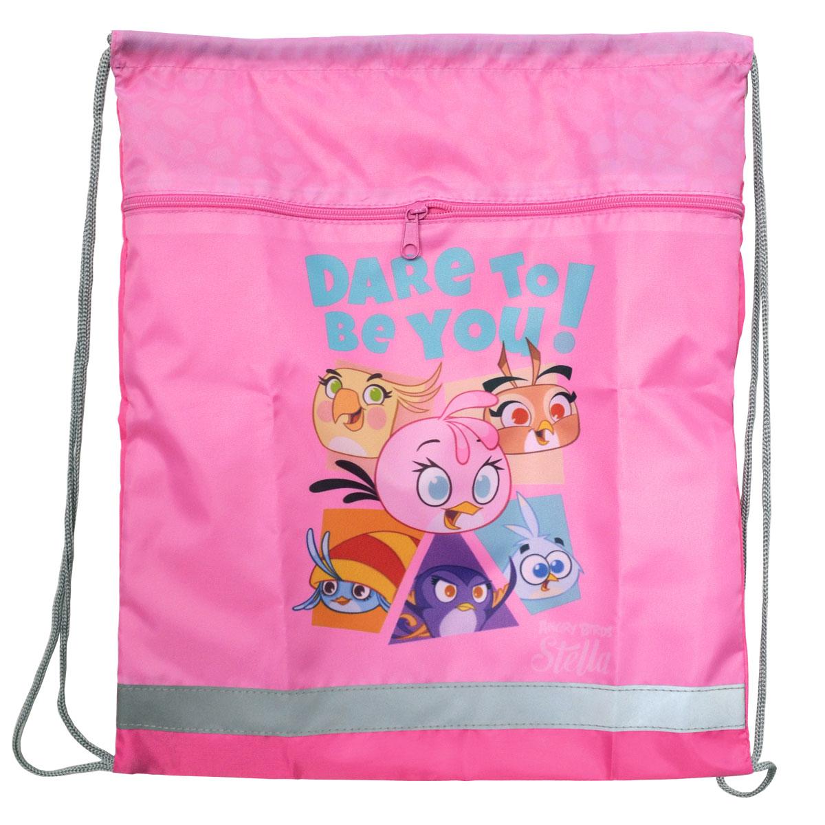 Action! Сумка для сменной обуви Stella by Angry Birds цвет розовый школьные рюкзаки action рюкзак angry birds stella