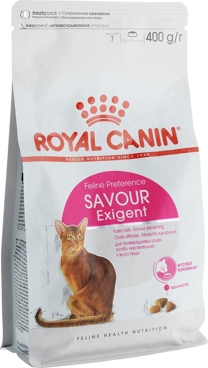 Корм сухой Royal Canin Exigent 35/30 Savoir Sensation, для привередливых кошек, 400 г0120710Сухой корм Royal Canin Exigent 35/30 Savoir Sensation является полнорационнымсбалансированным кормом для очень привередливых к вкусу продукта взрослыхкошек ввозрасте старше 1 года. Наличие индивидуальных пищевых предпочтенийозначает, чтокаждая кошка по-своему интерпретирует аромат, текстуру, вкус корма иощущения послеегопотребления. Корм, помимо вкусовых качеств, обладает также рядом другихоригинальных,специфических свойств. Особенности корма Royal Canin Exigent. Savor Sensation:- корм содержит два типа крокетов, различных по форме, текстуре и составу,обладающихвзаимодополняющими свойствами;- особая рецептура корма обладает умеренной калорийностью, что помогаетподдерживатьидеальный вес кошки;- комплекс входящих в состав корма активных питательных веществ,включающий биотинимасло огуречника аптечного, способствует красоте шерсти кошки.Royal Canin - лидер на рынке производства рационов для собак икошек,благодаря каждодневной исследовательской работе в области питания длядомашнихживотных.Товар сертифицирован.