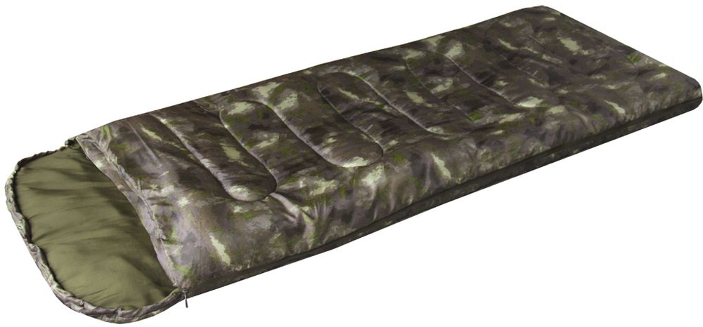 Спальный мешок-одеяло Prival  Camp Bag. КМФ , правосторонняя молния - Спальные мешки
