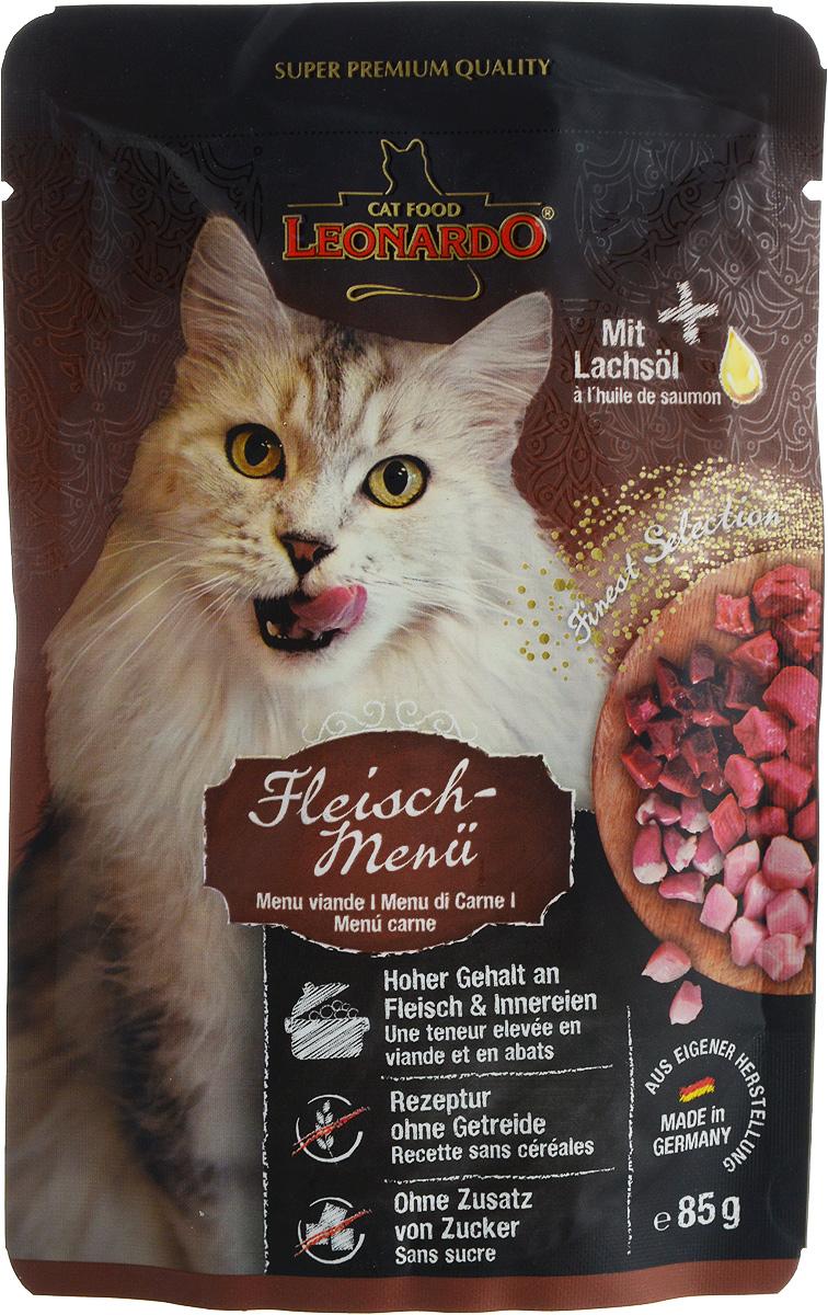 Консервы Leonardo для взрослых кошек, с мясом, 85 г41869Консервы Leonardo - это полноценное натуральное питание производится из свежего мяса, прошедшего контроль качества, содержит только одобренные ветеринарами ингредиенты животного происхождения, не имеет в составе химии, сои, красителей, ароматизаторов и консервантов. Такой состав позволяет даже чувствительным пушистикам питаться этими консервами, не испытывая проблем с пищеварением и аллергических реакций. А современные технологии приготовления и специальный комплекс витаминов и минералов, которым обогащаются консервы, гарантируют, что в суточной порции будет присутствовать сбалансированное соотношение совершенно всех питательных элементов, которые нужны взрослой кошке для полноценной жизнедеятельности.Корм обеспечит вашему любимцу:- крепкий иммунитет: корм включает в себя природные антиоксиданты и витамины, которые обеспечивают котенку крепкий иммунитет и устойчивость к атакам вирусов и инфекций,- нормальный уровень рН: повышенное содержание влаги помогает нормализовать кислотность мочи и защищает кошку от мочекаменного заболевания,- здоровье шерсти и коже: большое количество Омега-3-6 жирных кислот подарит котенку красивую, блестящую шубку и идеально здоровую кожу.Товар сертифицирован.